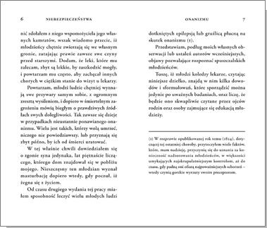 Niebezpieczeństwa onanizmu (wydanie drugie)