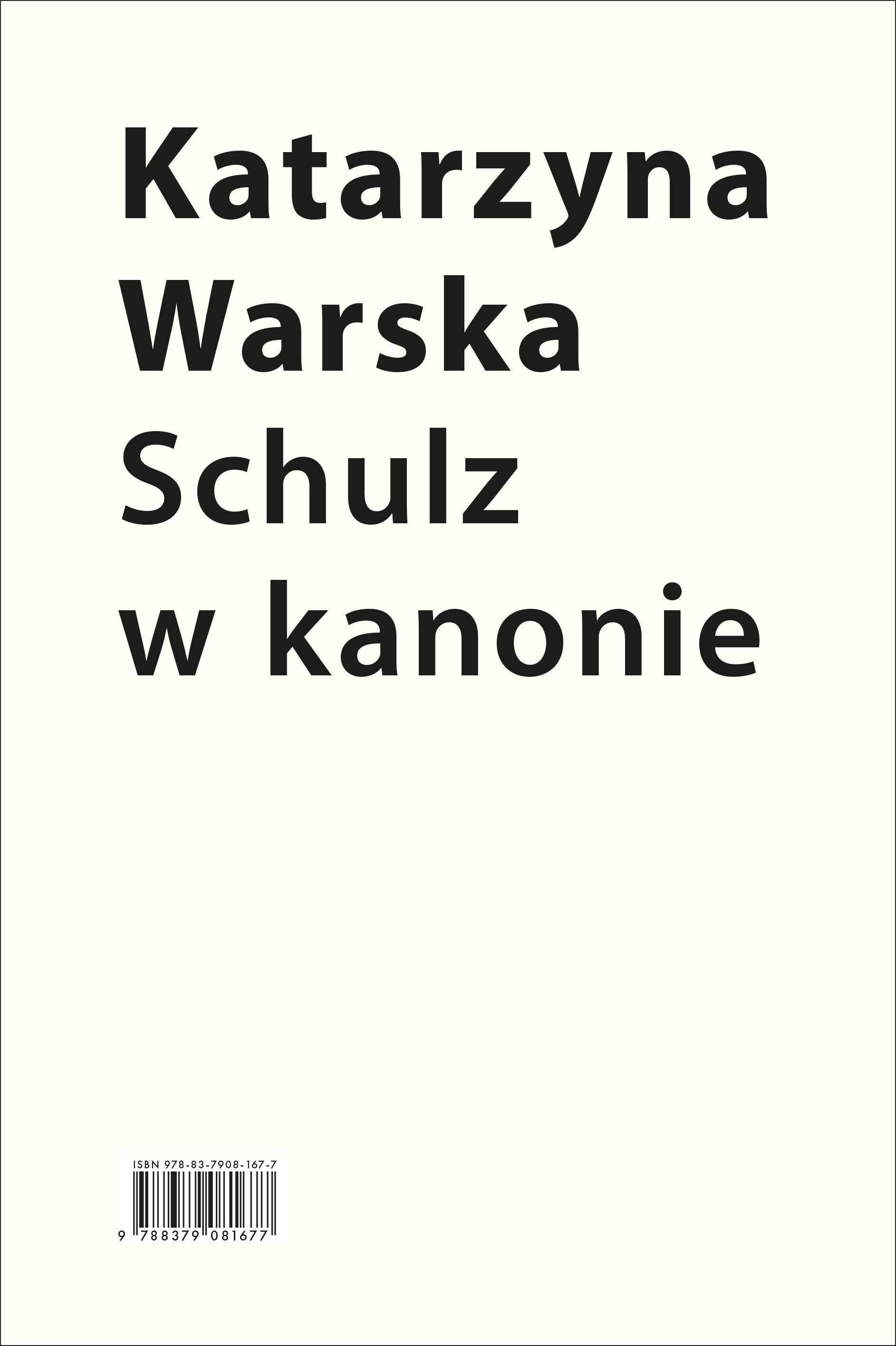 Schulz w kanonie. Recepcja szkolna w latach 1945-2018