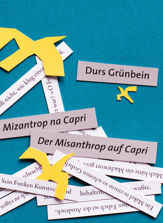 Mizantrop na Capri. Historie | Wiersze | Der Misanthrop auf Capri. Historien | Gedichte