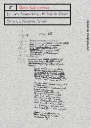 """(e-book) Juliusza Słowackiego """"Podróż do Ziemi Świętej z Neapolu"""". Glosy do poematu"""