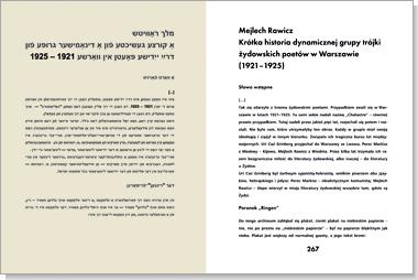 Warszawska awangarda jidysz. Antologia tekstów