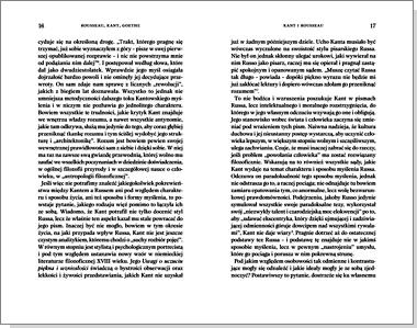 Rousseau, Kant, Goethe