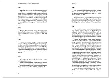 Polskie kontakty teatralne z  Orientem w XX wieku, t. 1: Kronika