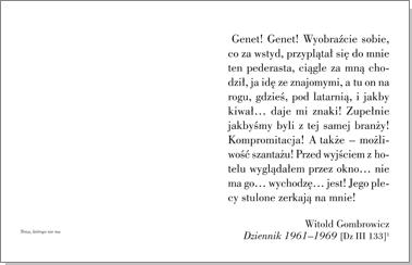 Genet Gombrowicza. Historia miłosna